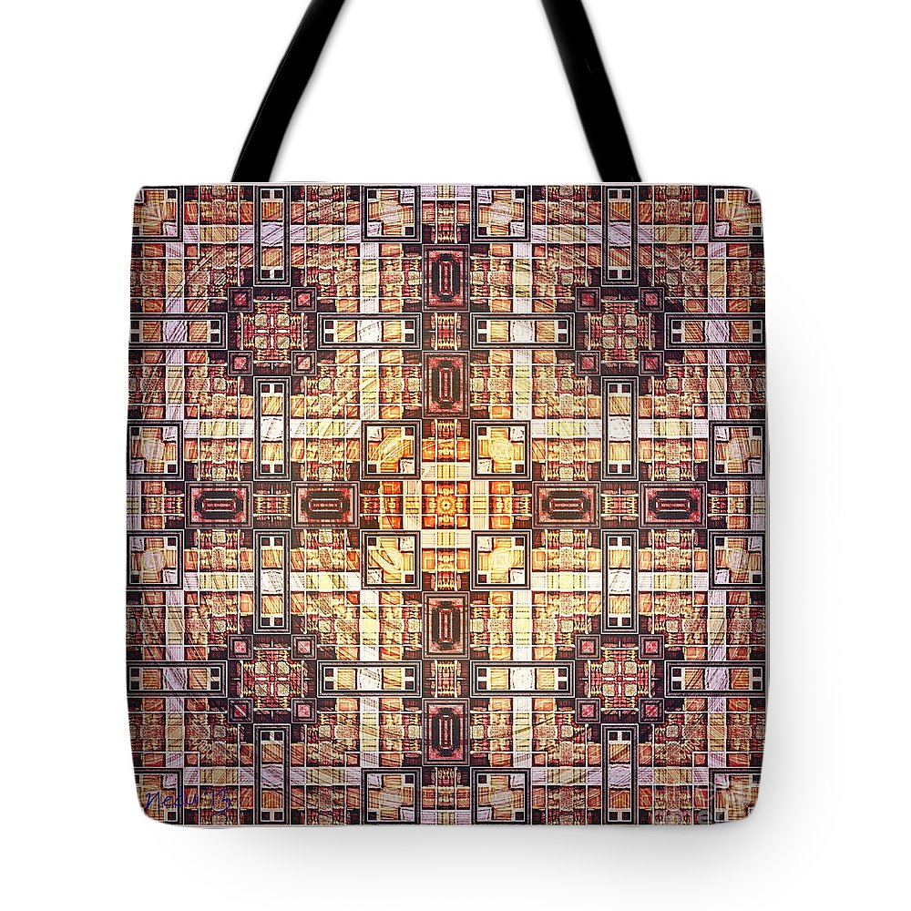 Fine Art Tote Bag featuring the painting Symmetrica 272 by Nedunseralathan R