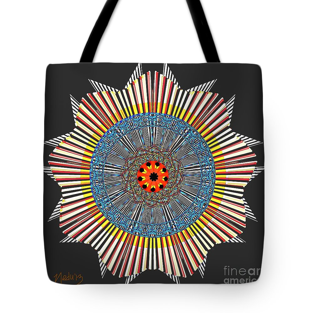Fine Art Tote Bag featuring the painting Symmetrica 281 by Nedunseralathan R
