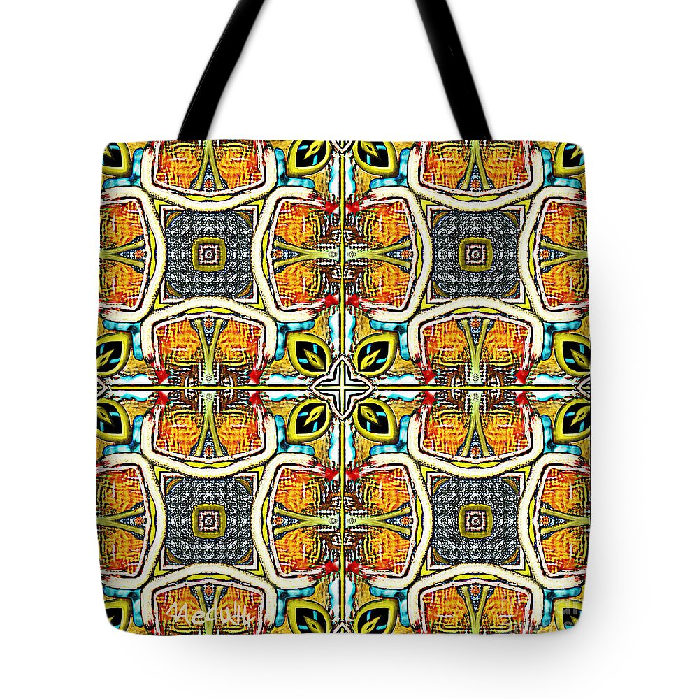 Fine Art Tote Bag featuring the painting Symmetrica 379 by Nedunseralathan R
