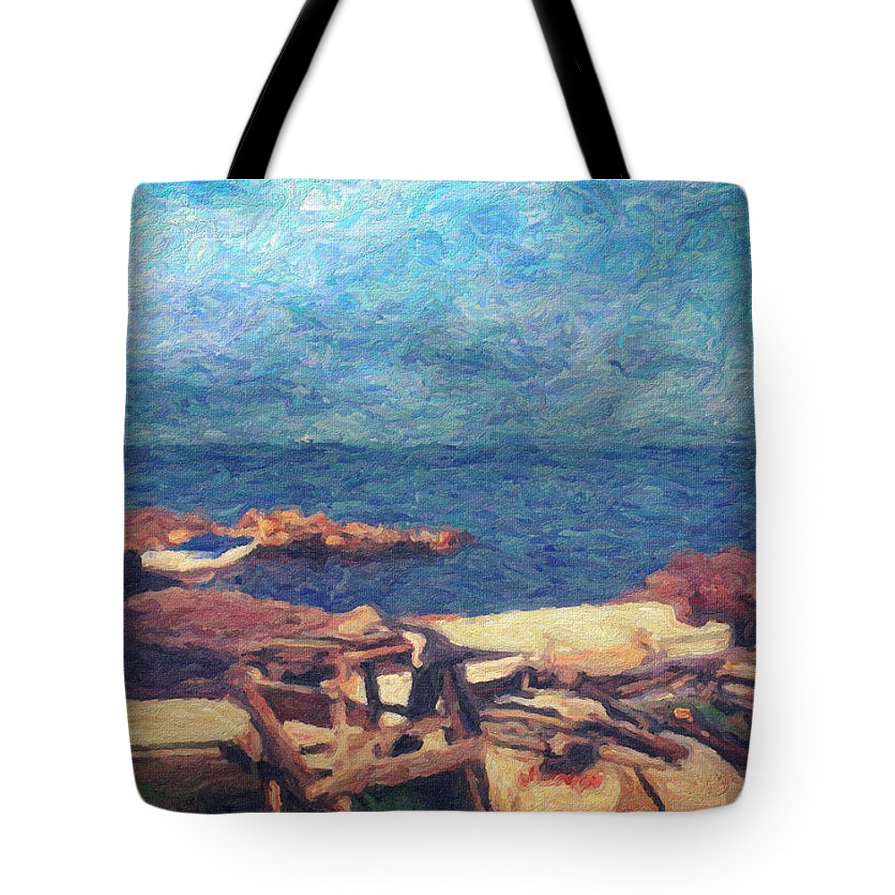 Oil Painting Tote Bag featuring the painting Symphony Of Silence by Zapista