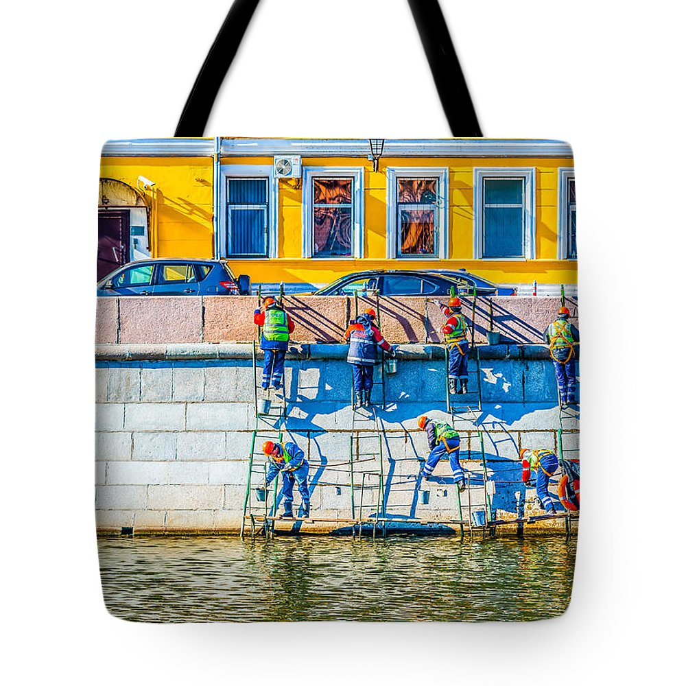 Moscow Tote Bag featuring the photograph Symphony Of Work by Alexander Senin