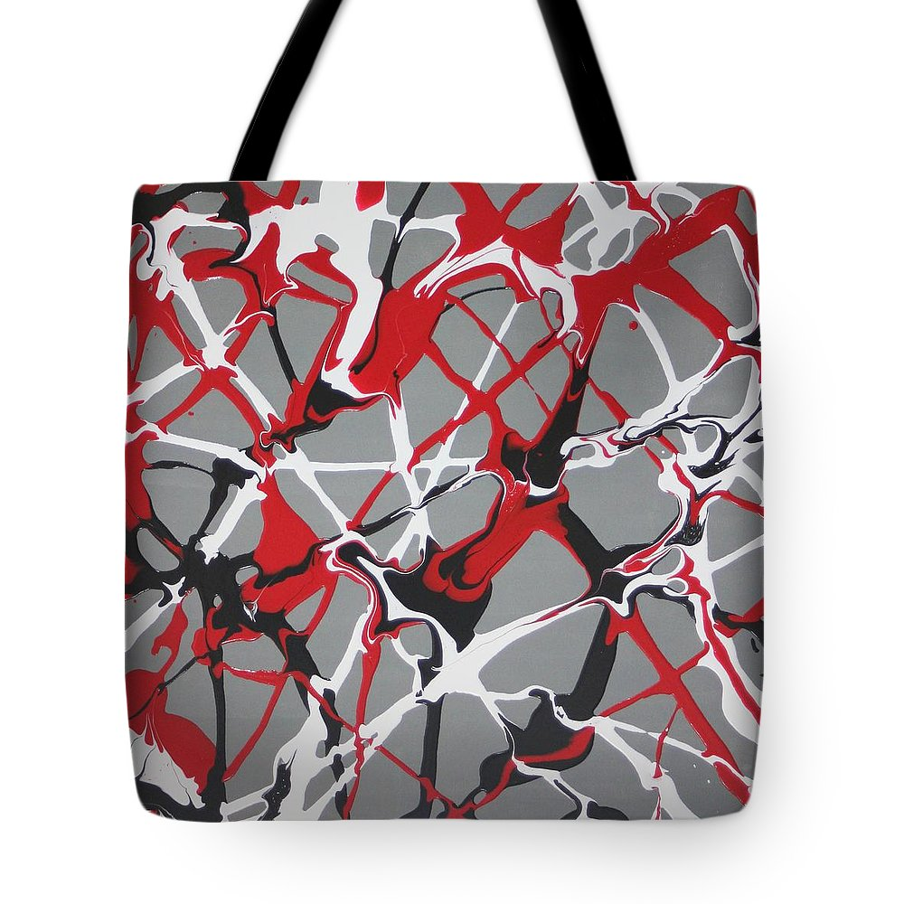 Abstract Tote Bag featuring the painting Synapse 3 by Madeleine Arnett
