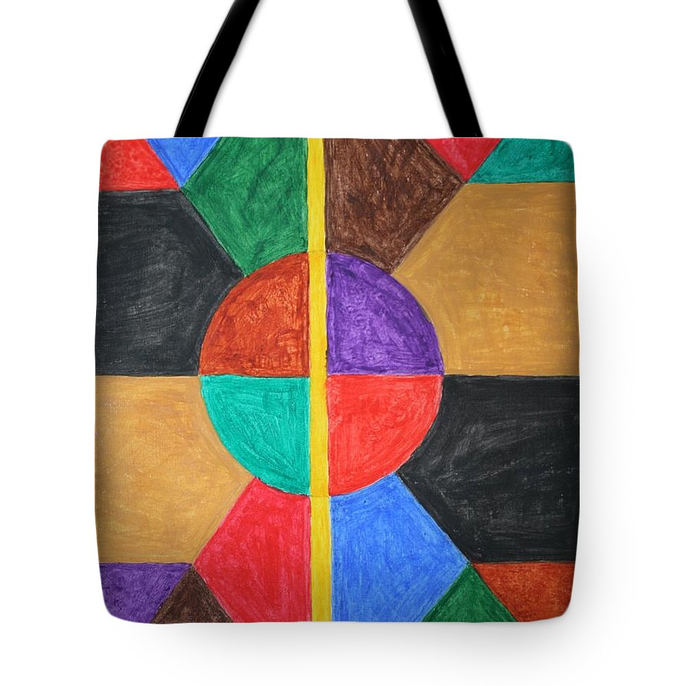 Syncro System Tote Bag featuring the painting Synchro System by Stormm Bradshaw