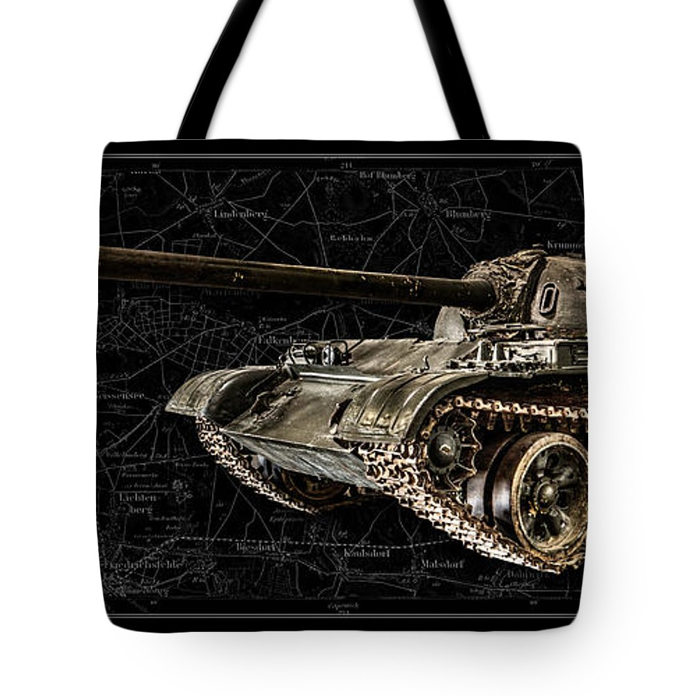 T-54 Tote Bag featuring the photograph T-54 Soviet Tank Bk-bg by Weston Westmoreland
