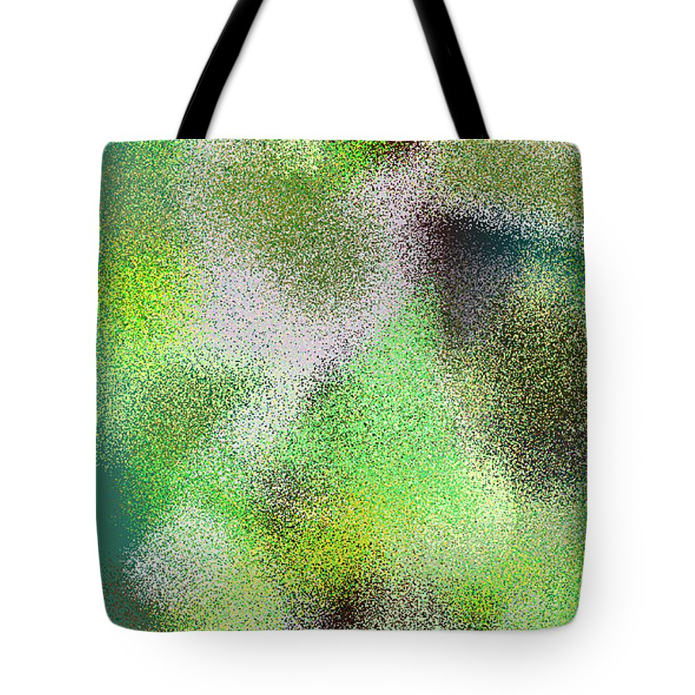 Abstract Tote Bag featuring the digital art T.1.50.4.1x2.2560x5120 by Gareth Lewis