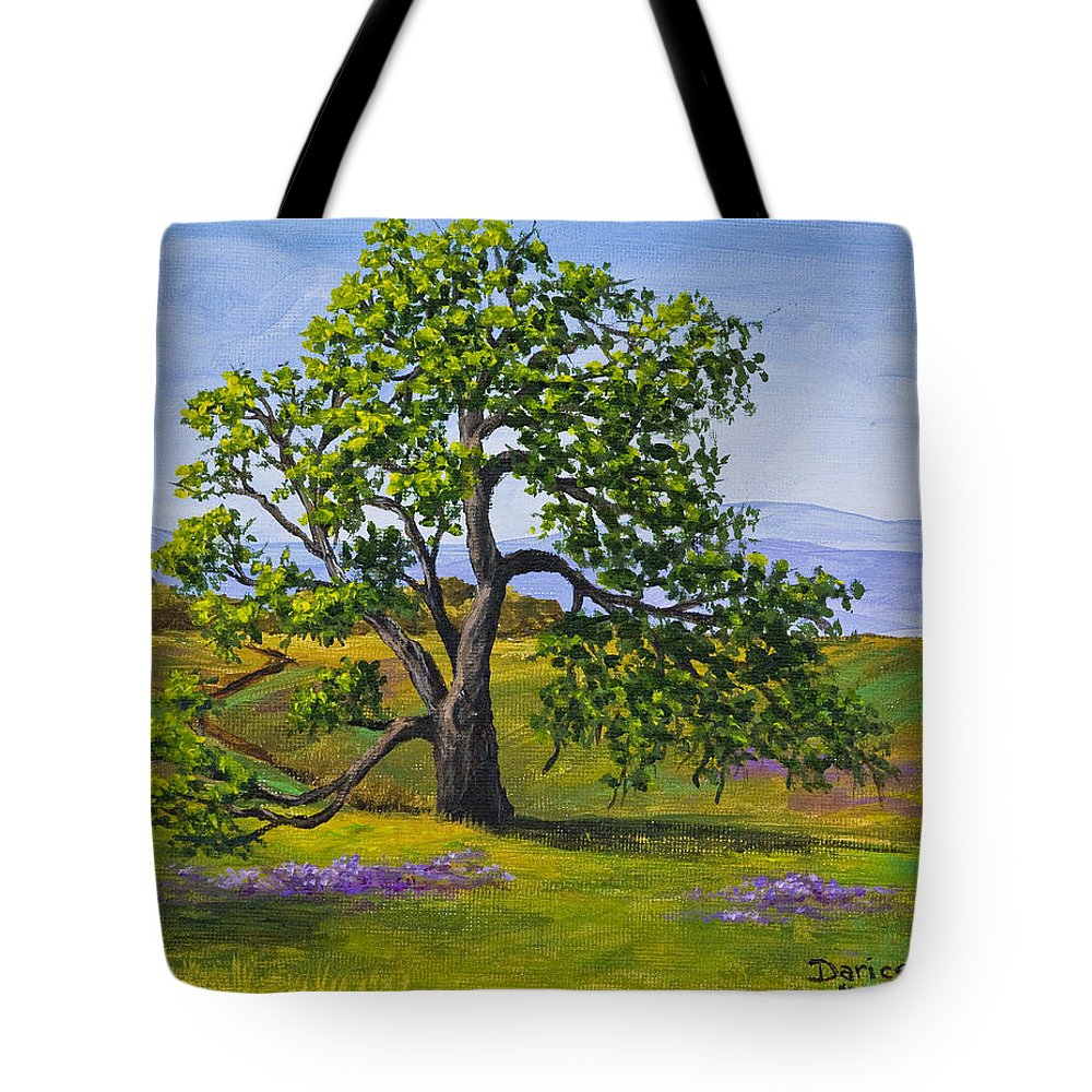 Table Mountain Tote Bag featuring the painting Table Mountain by Darice Machel McGuire