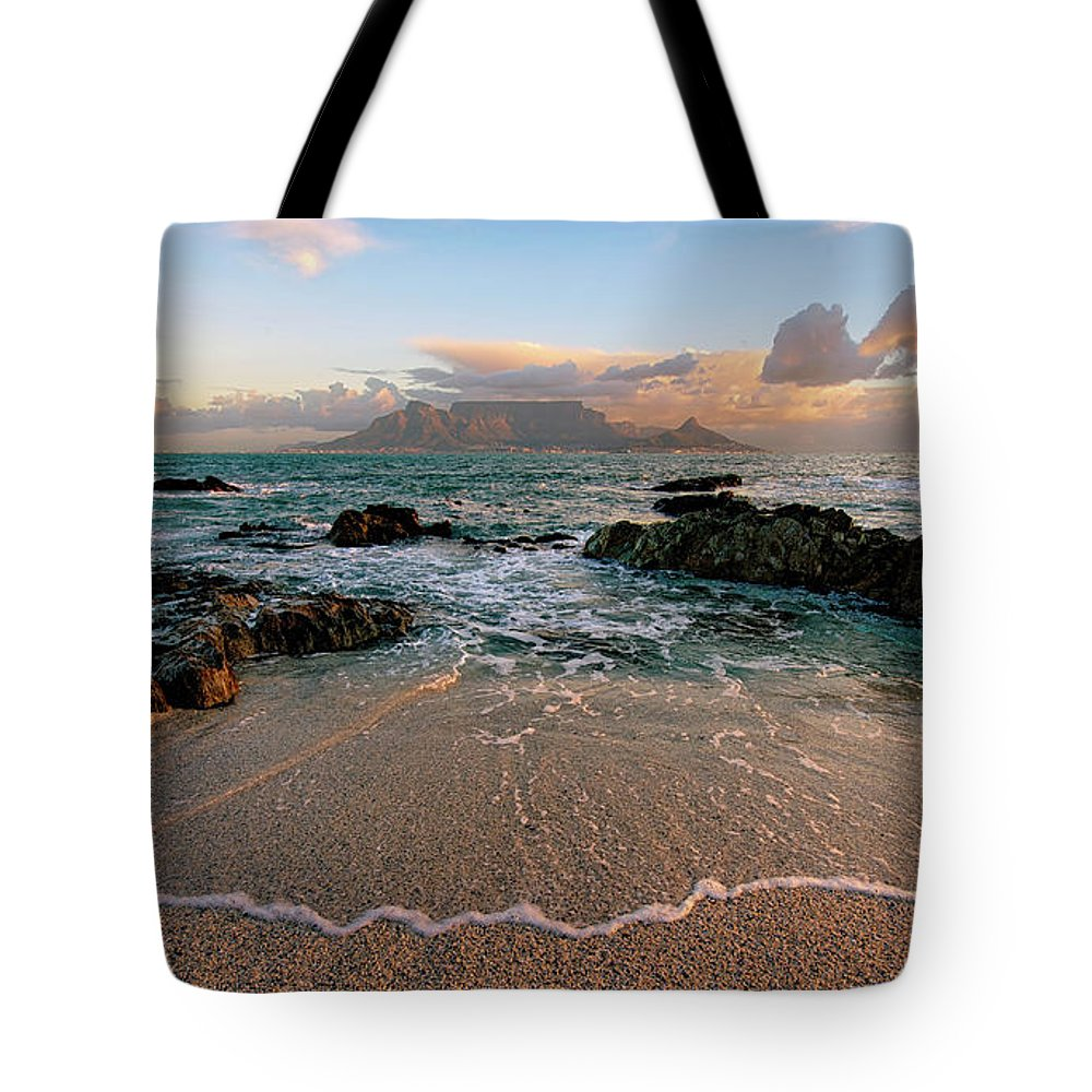Tranquility Tote Bag featuring the photograph Table Mountain Wave Fan by Paul Bruins Photography