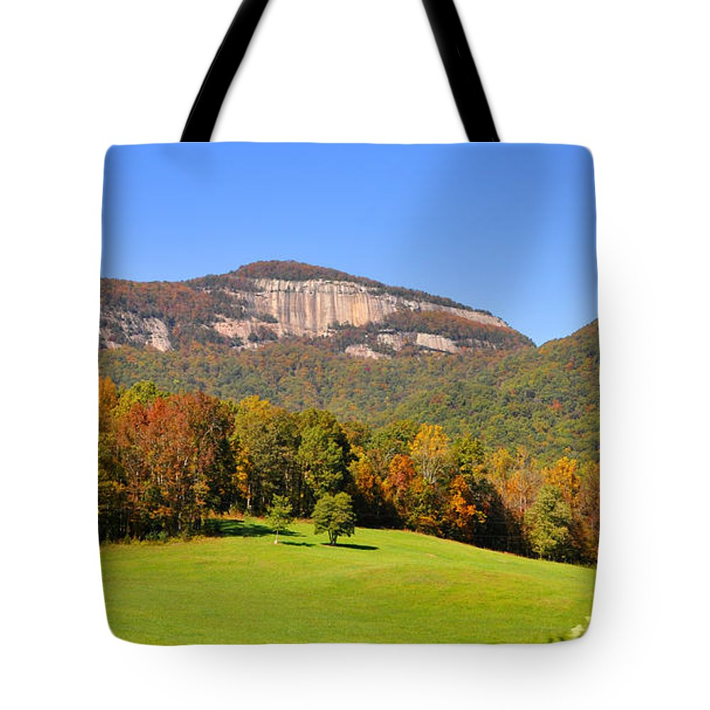 South Carolina Tote Bag featuring the photograph Table Rock In Autumn by Lydia Holly