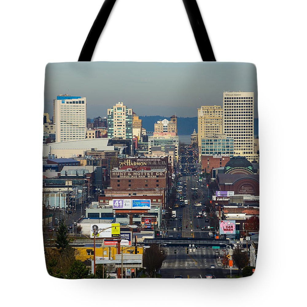 Tacoma Tote Bag featuring the photograph Tacoma City Of Destiny Unframed by Tikvah's Hope