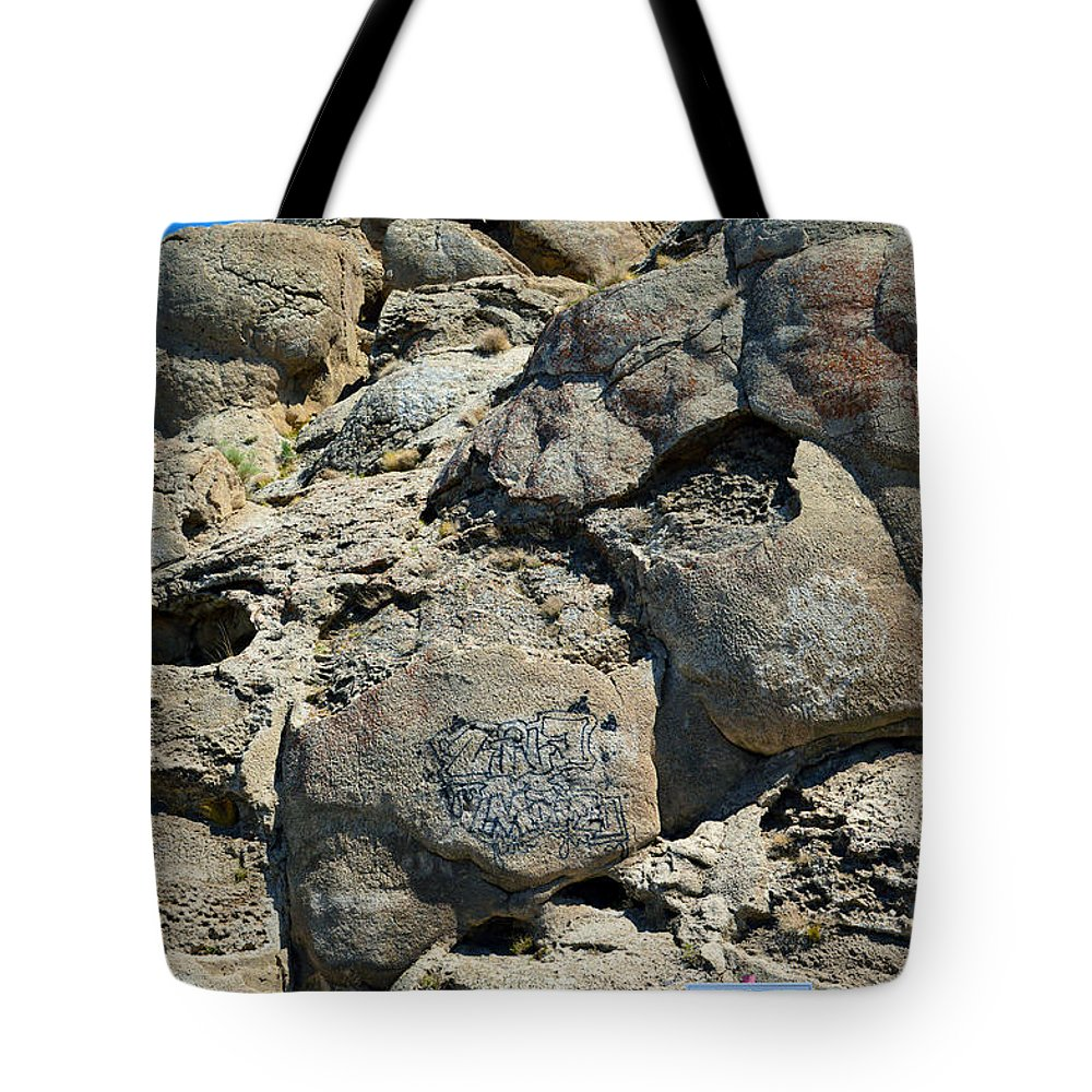Lichen Tote Bag featuring the photograph Tag At Your Own Risk by Brent Dolliver