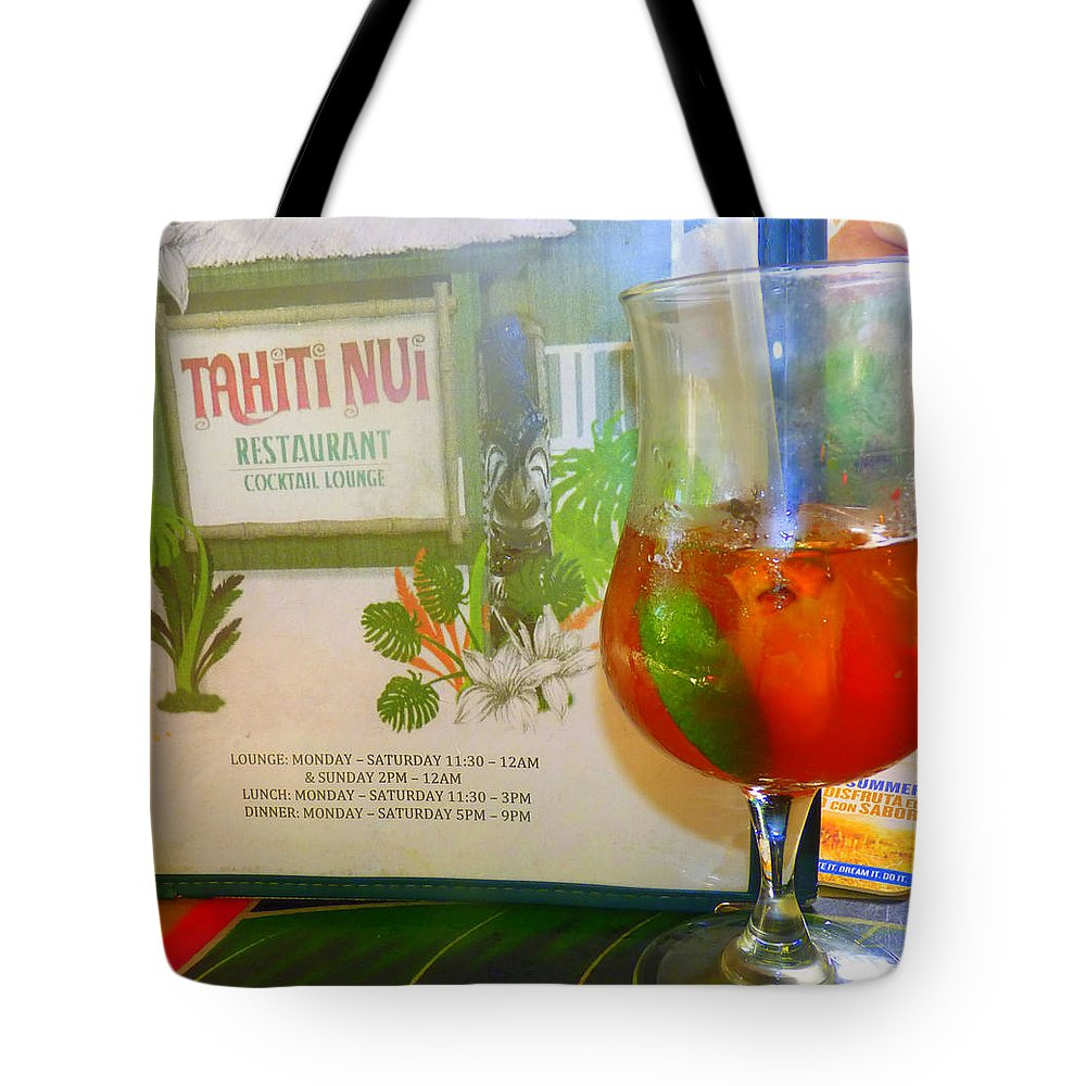 Wine Tote Bag featuring the photograph Tahiti Nui by Kris Hiemstra