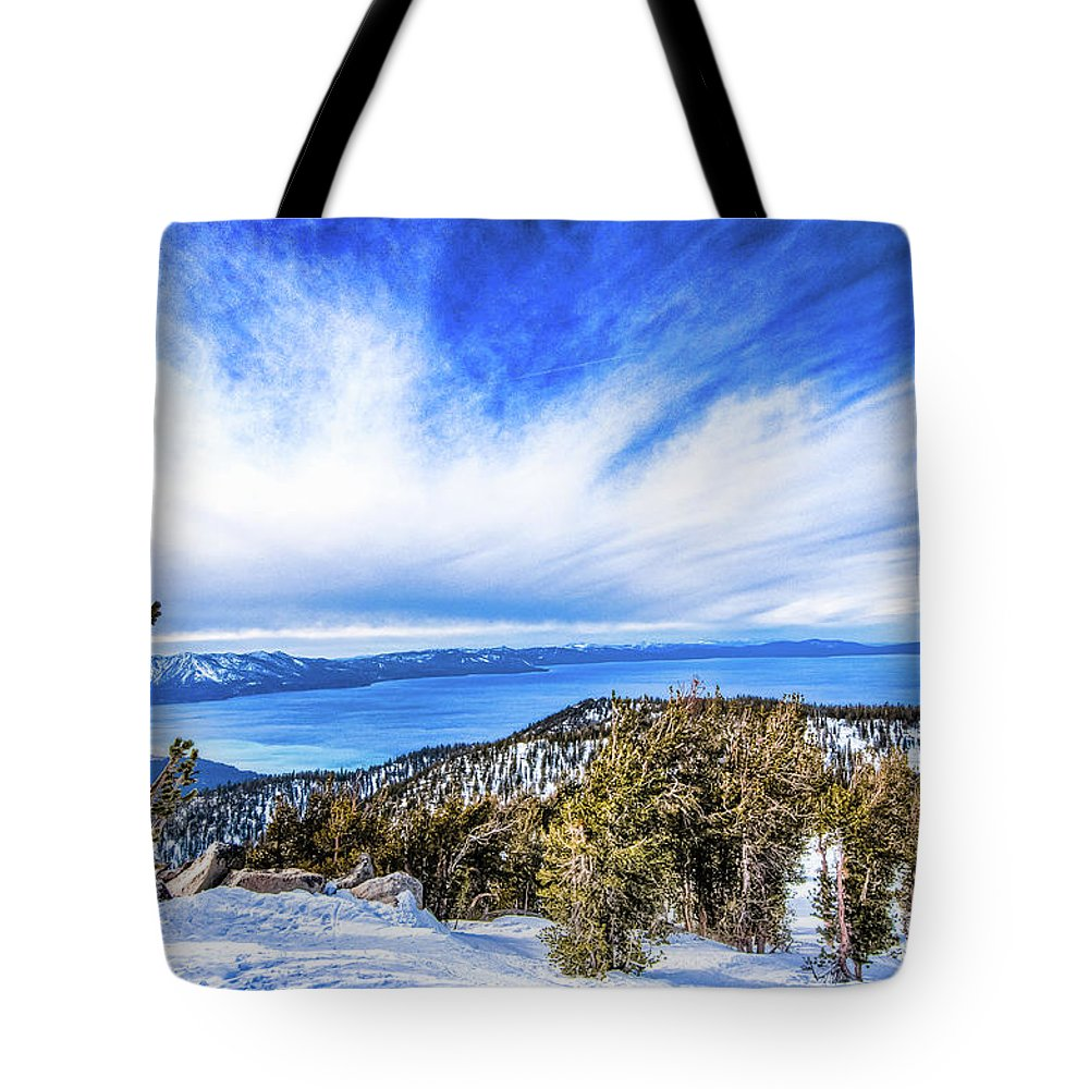 Scenics Tote Bag featuring the photograph Tahoe From Heavenly by Peter Stasiewicz