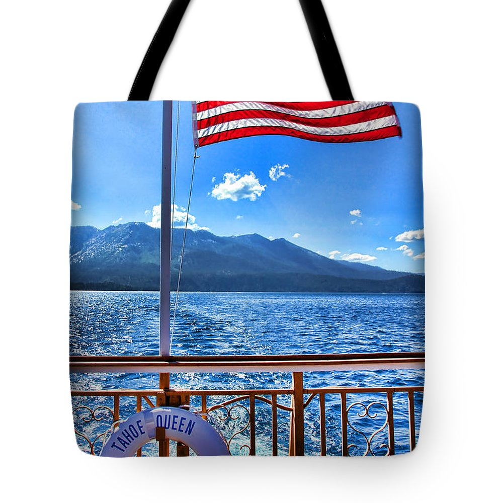 Boat Tote Bag featuring the photograph Tahoe Queen Lake Tahoe By Diana Sainz by Diana Raquel Sainz
