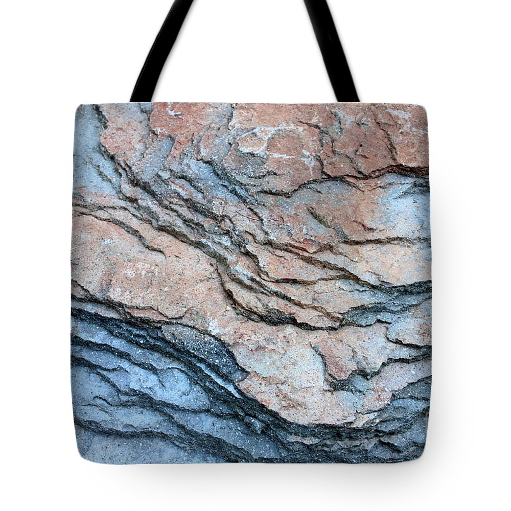 Nature Abstract Tote Bag featuring the photograph Tahoe Rock Formation by Carol Groenen