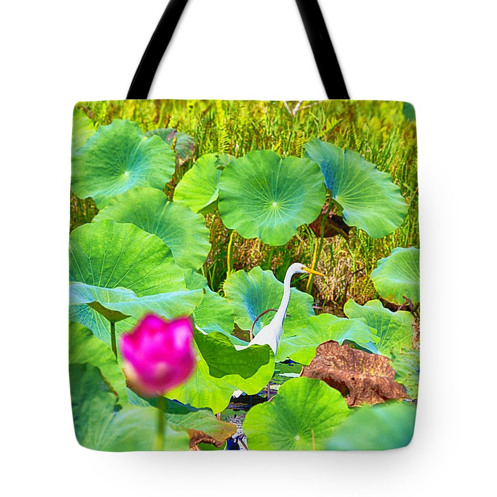Lotus Flower Tote Bag featuring the photograph Tail-end Of The Wet Season by Douglas Barnard
