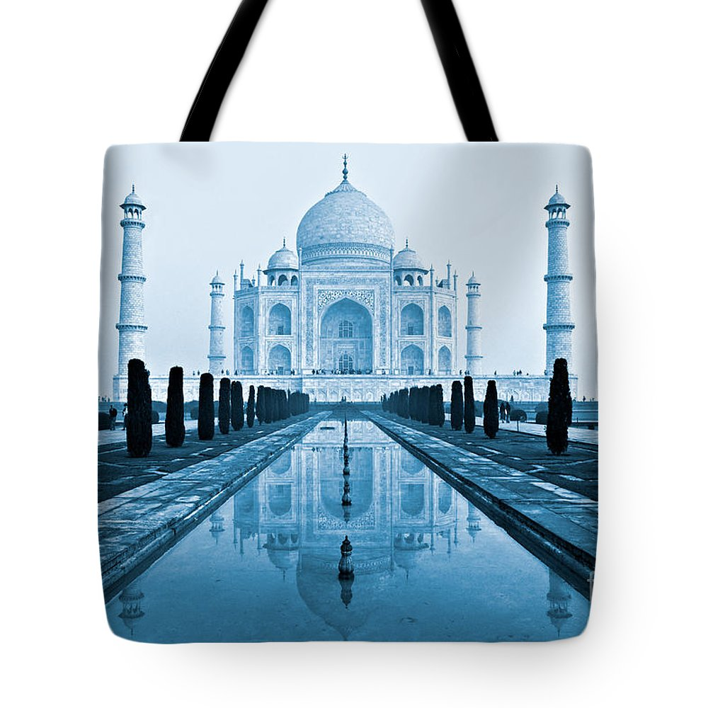 Agra Tote Bag featuring the photograph Taj Mahal - Agra - India by Luciano Mortula