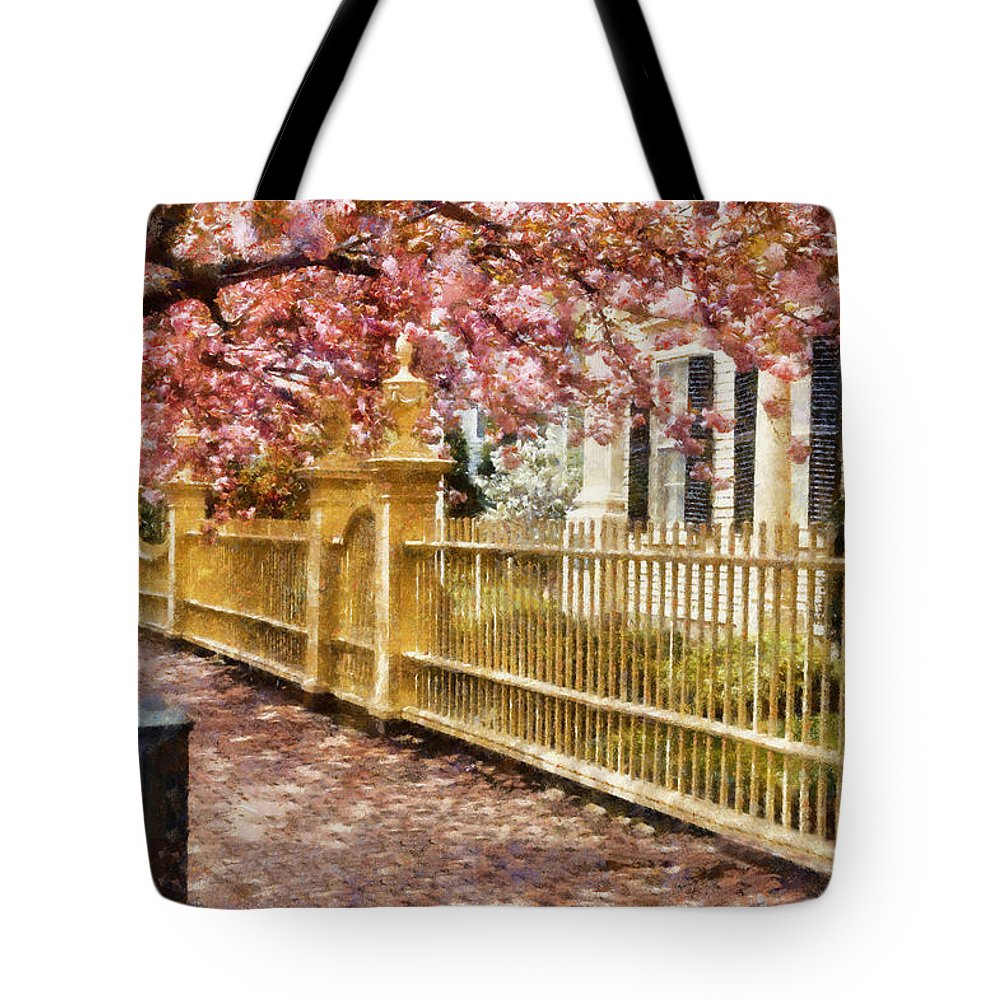 Salem Tote Bag featuring the photograph Take A Walk Along Federal Street by Jeff Folger