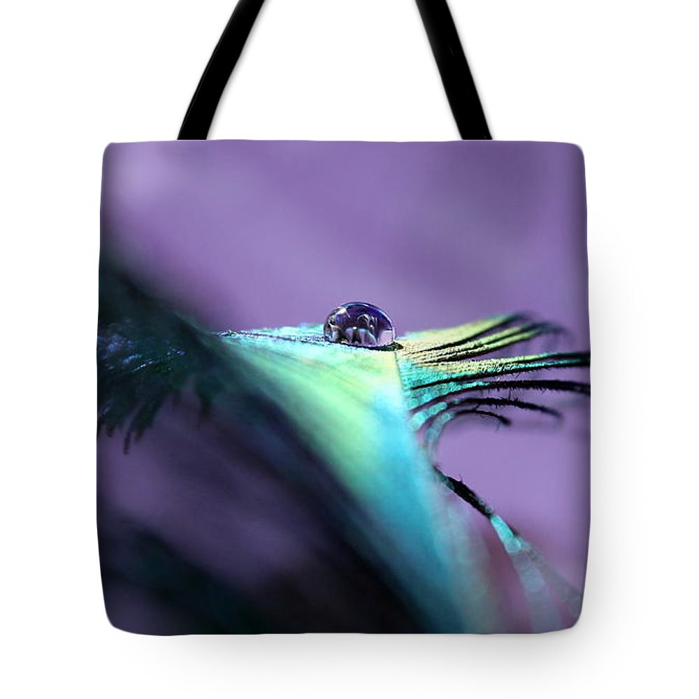 Peacock Feather Tote Bag featuring the photograph Take Flight II by Krissy Katsimbras