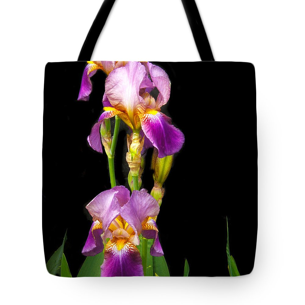 Flower Tote Bag featuring the photograph Tall Iris by Robert Bales