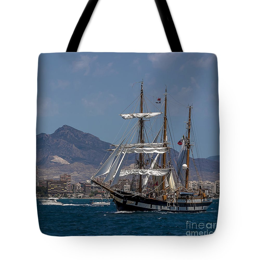 Tall Ships Tote Bag featuring the photograph Tall Ship Palinuro by Pablo Avanzini