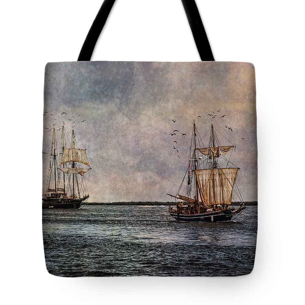 Tall Ships Tote Bag featuring the photograph Tall Ships by Dale Kincaid