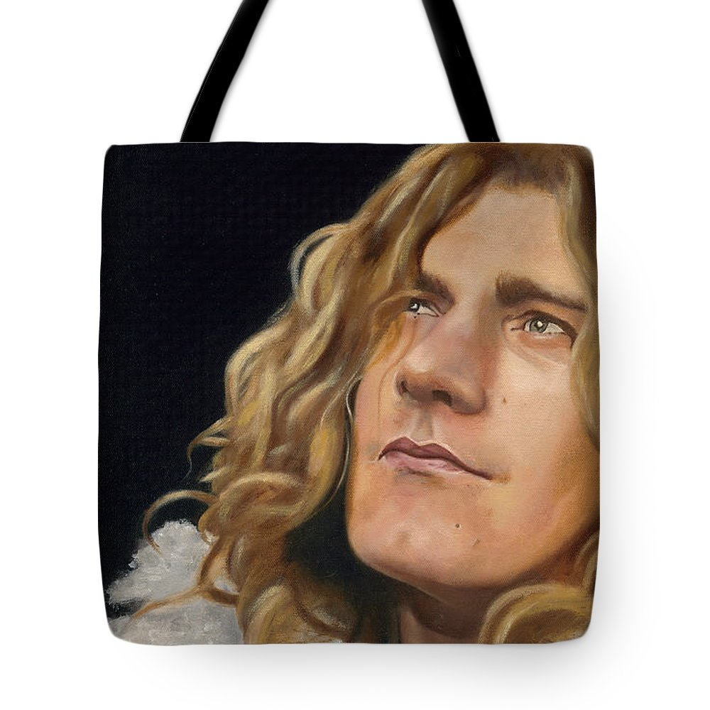Robert Plant Tote Bag featuring the painting Tangerine by Jena Rockwood