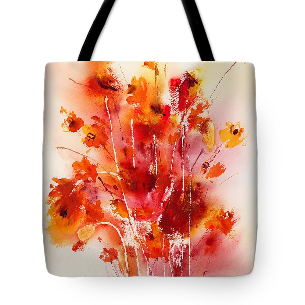 Flowers Tote Bag featuring the painting Tangerine Tango by Hailey E Herrera