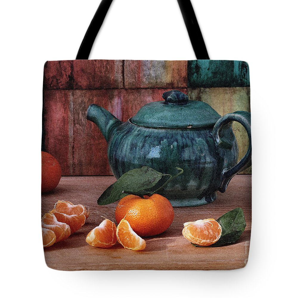 Tangerine Tote Bag featuring the photograph Tangerines by Luv Photography