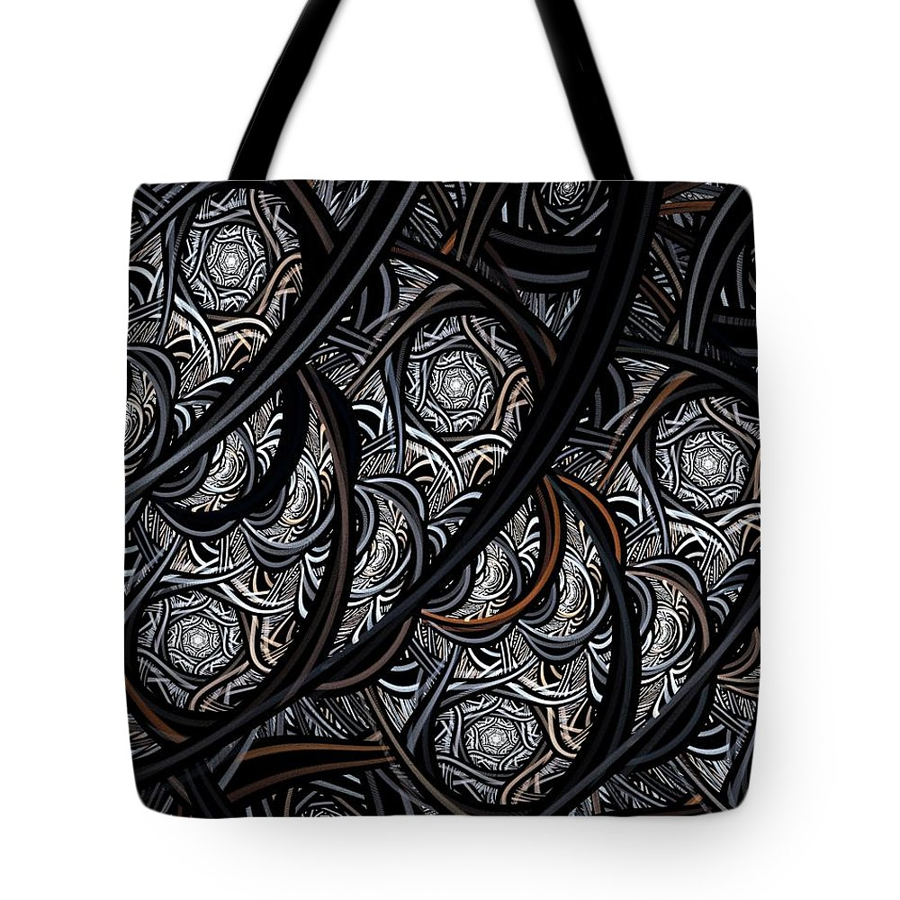 Digital Art Tote Bag featuring the digital art Tangled by Amanda Moore