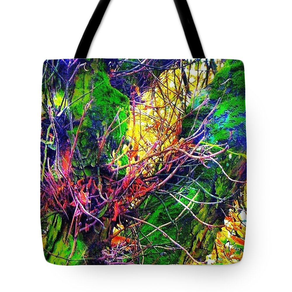 Tangled Tote Bag featuring the photograph Tangled by Anna Porter