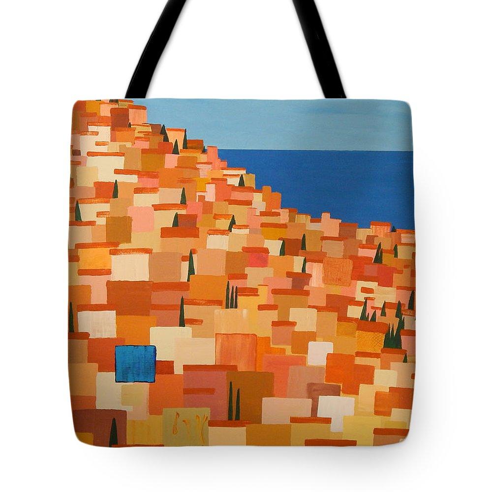 Taormina Tote Bag featuring the painting Taormina by Brenda Helt