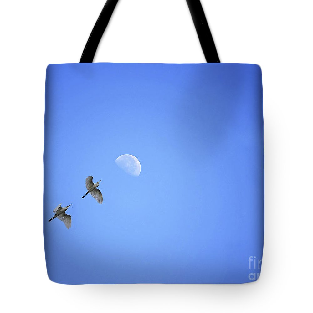 Birds Tote Bag featuring the photograph Target Higher by Image World