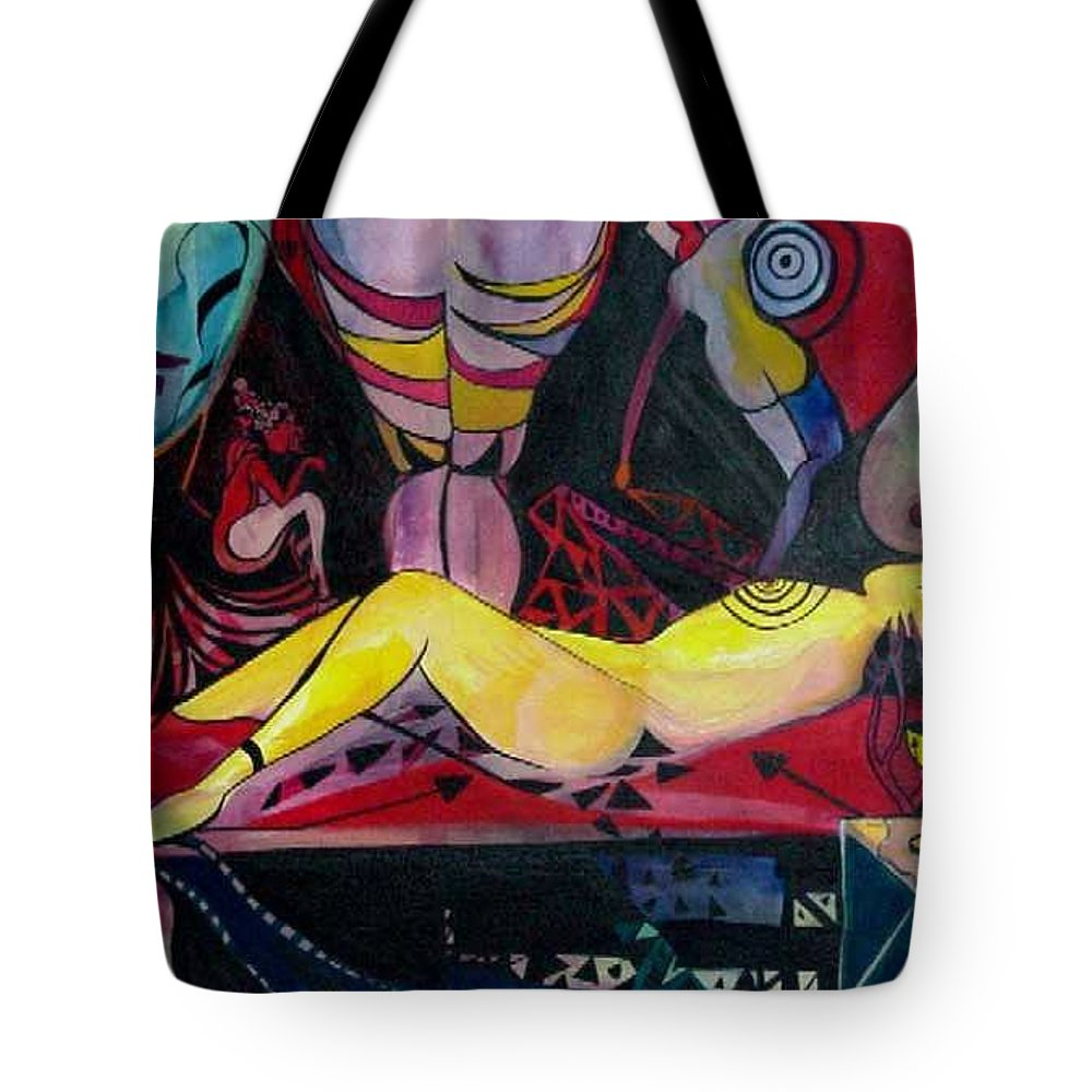 Women Tote Bag featuring the painting Target Practice by Carolyn LeGrand