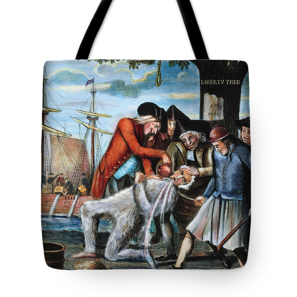 1773 Tote Bag featuring the photograph Tarring & Feathering, 1773 by Granger