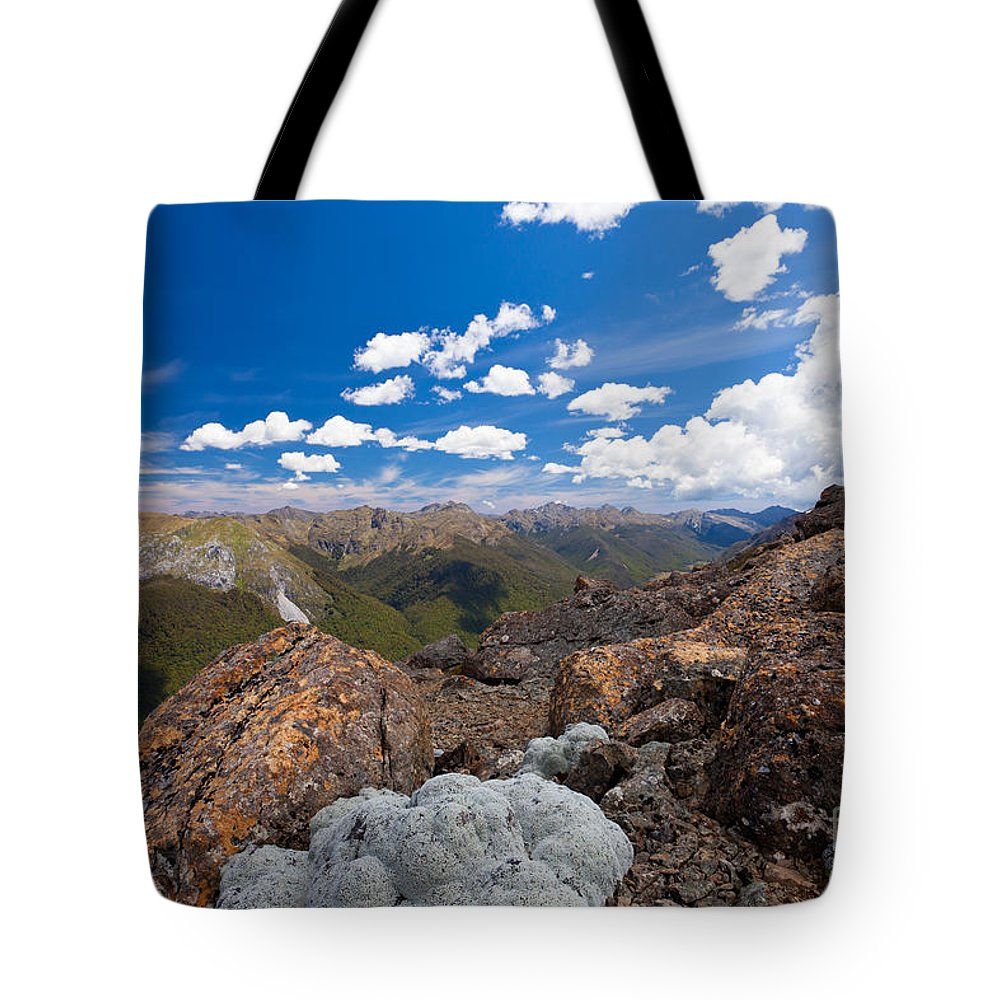 Cobb Valley Tote Bag featuring the photograph Tasman Mountains Of Kahurangi Np In New Zealand by Stephan Pietzko