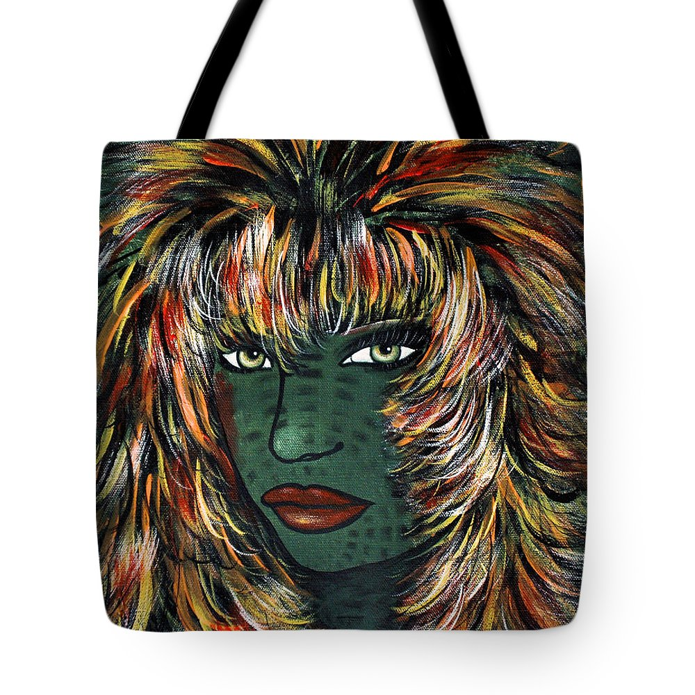 Woman Tote Bag featuring the painting Tattoo by Natalie Holland