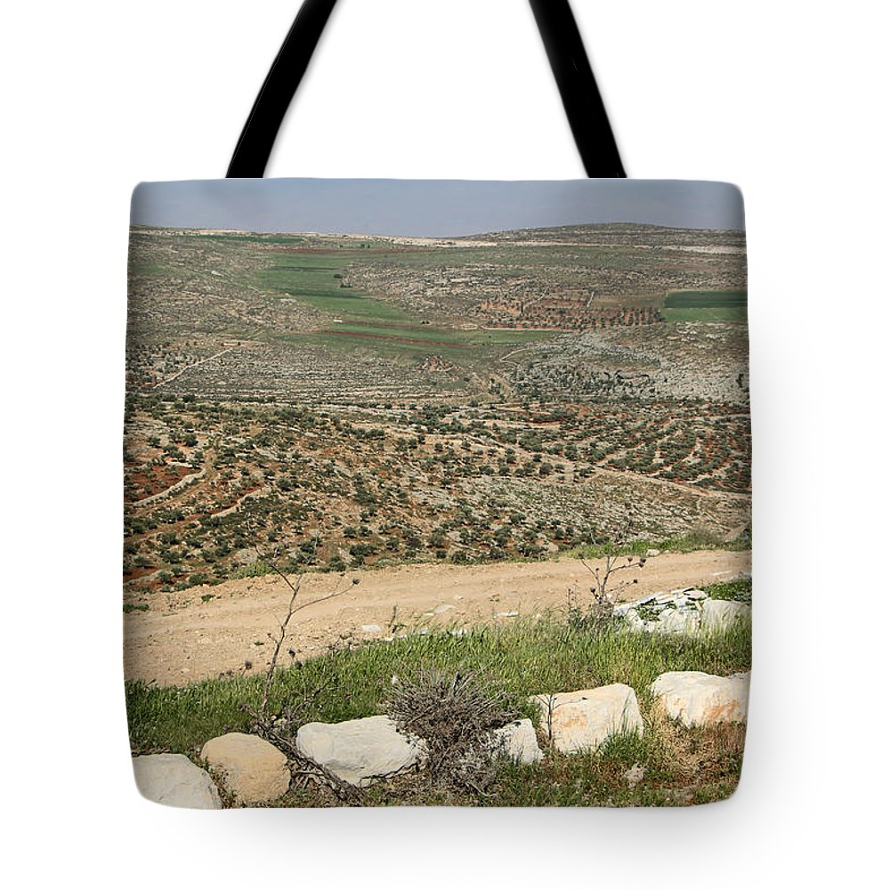 Landscape Tote Bag featuring the photograph Taybeh Landscape by Munir Alawi