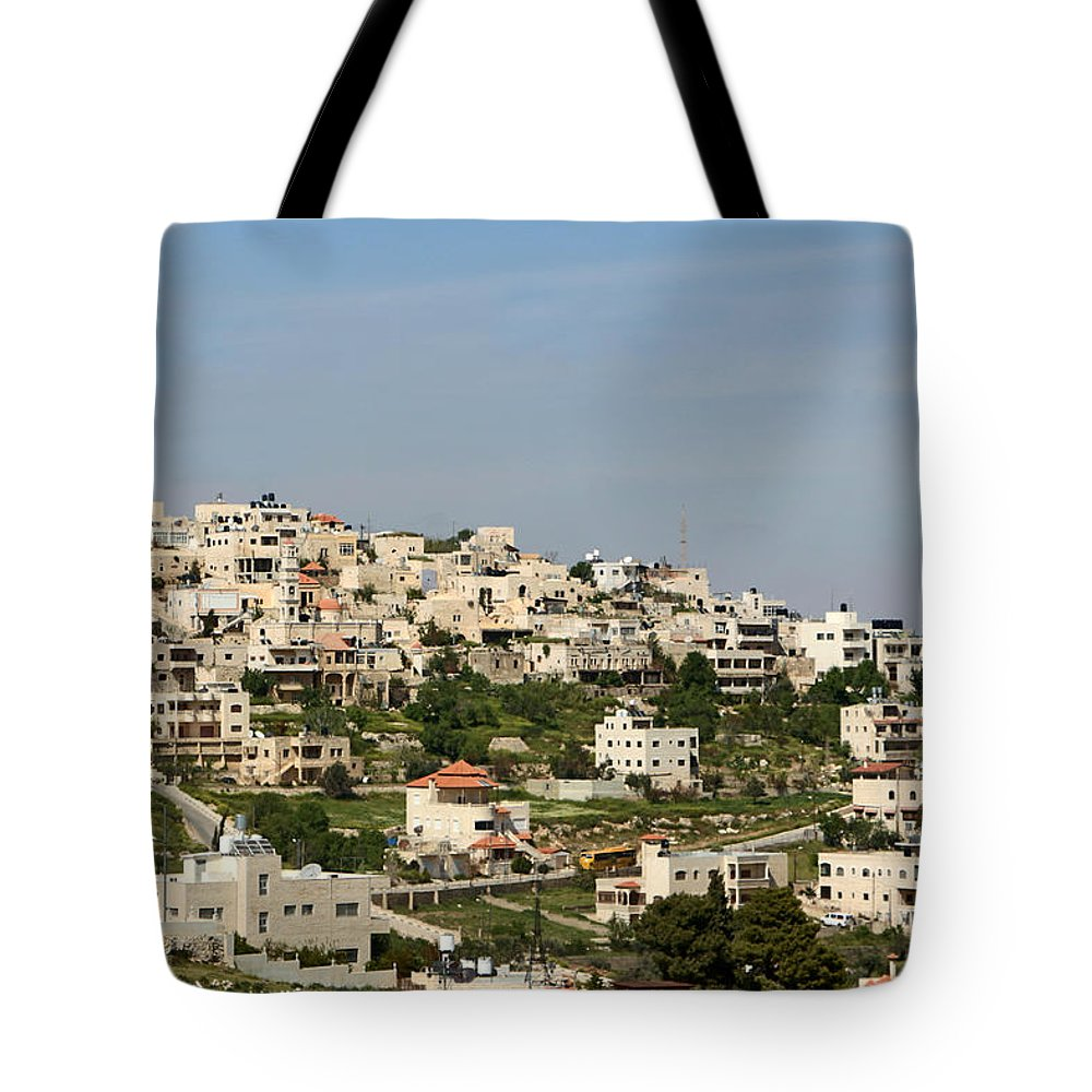 Taybeh Tote Bag featuring the photograph Taybeh Village by Munir Alawi