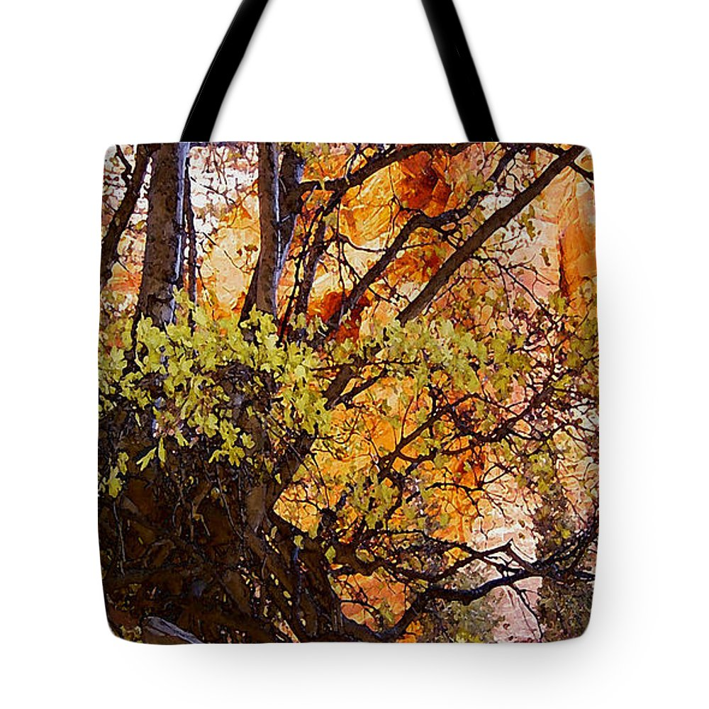 Digital Tote Bag featuring the digital art Taylor's 2 by David Hansen