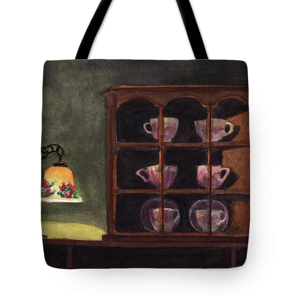 Interior Tote Bag featuring the painting Tea Cups by Arthur Barnes