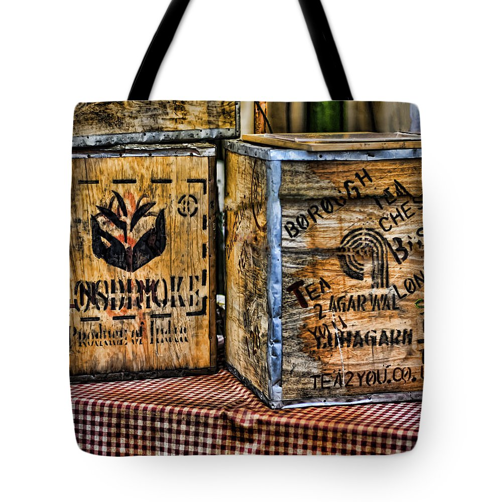 Tea Tote Bag featuring the photograph Tea Party by Heather Applegate