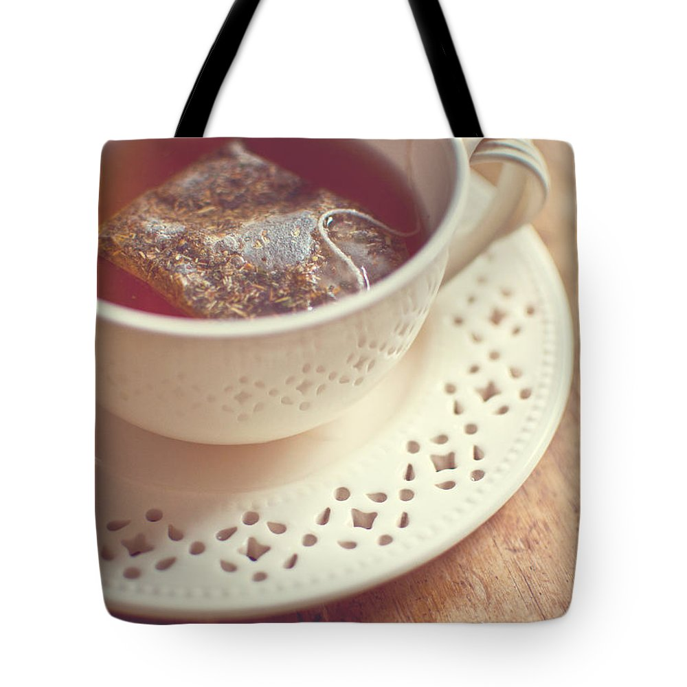 Tea Tote Bag featuring the photograph tea by Tammy Lee Bradley