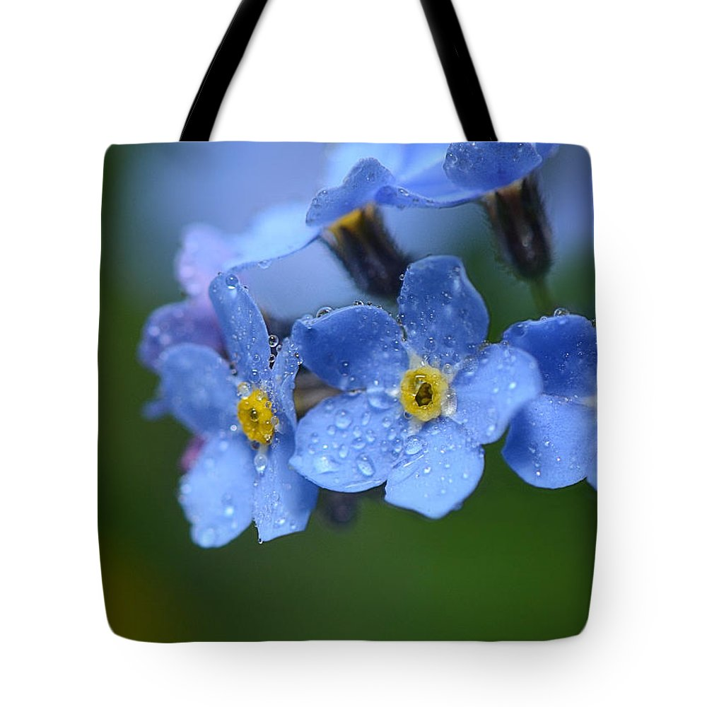 Forget Me Not Tote Bag featuring the photograph Tearful Goodbye by Lisa Knechtel