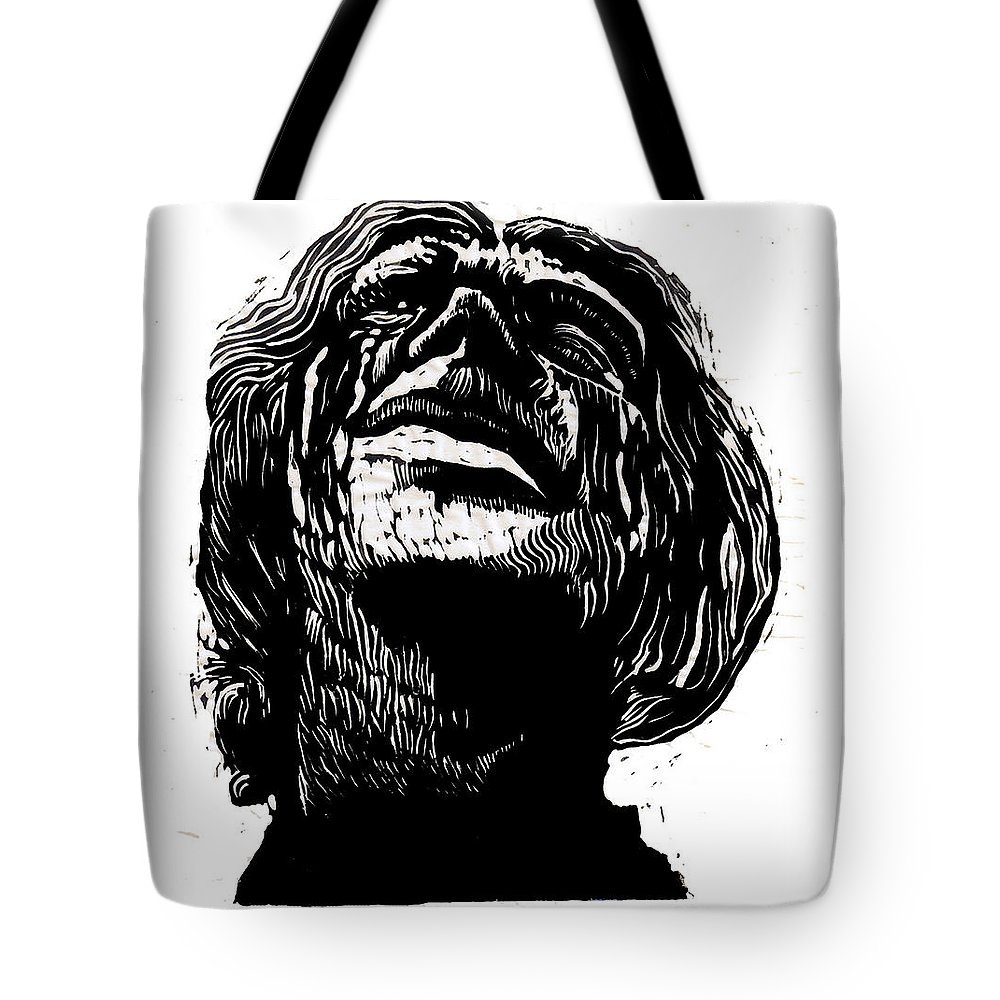 Tears Tote Bag featuring the mixed media Tears For Her Dead by Seth Weaver