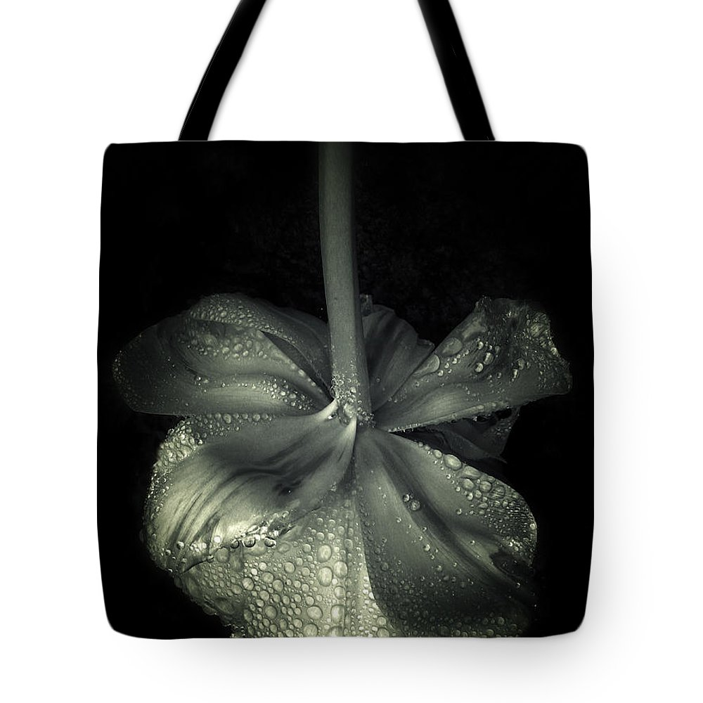 Flowers Tote Bag featuring the photograph Tears by Jessica Jenney