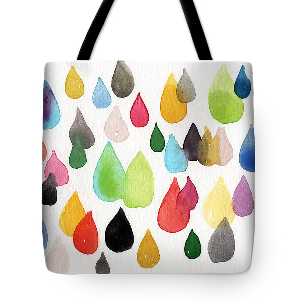Rainbow Tote Bag featuring the painting Tears Of An Artist by Linda Woods