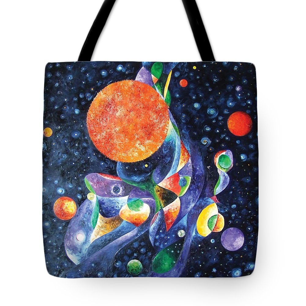 Sun Tote Bag featuring the painting Tears Of God by Bert Munoz