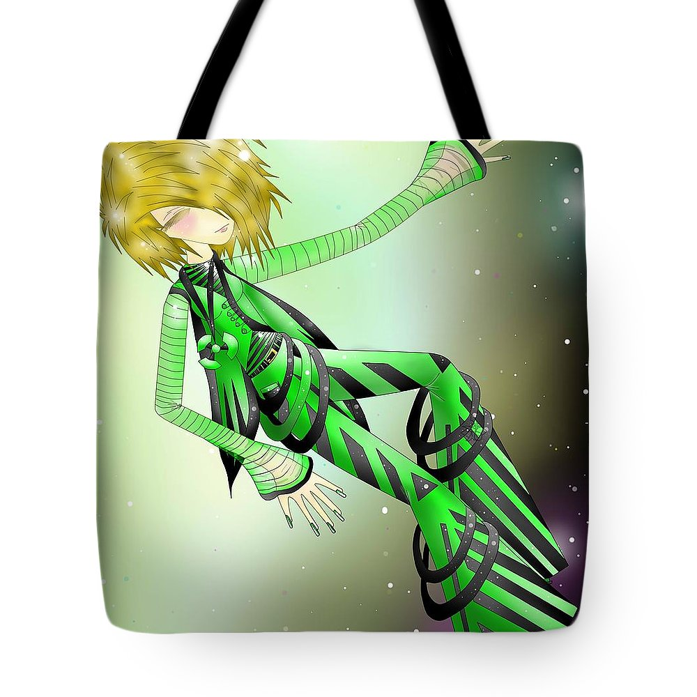 Anime Tote Bag featuring the digital art Tech by JMQE Studios