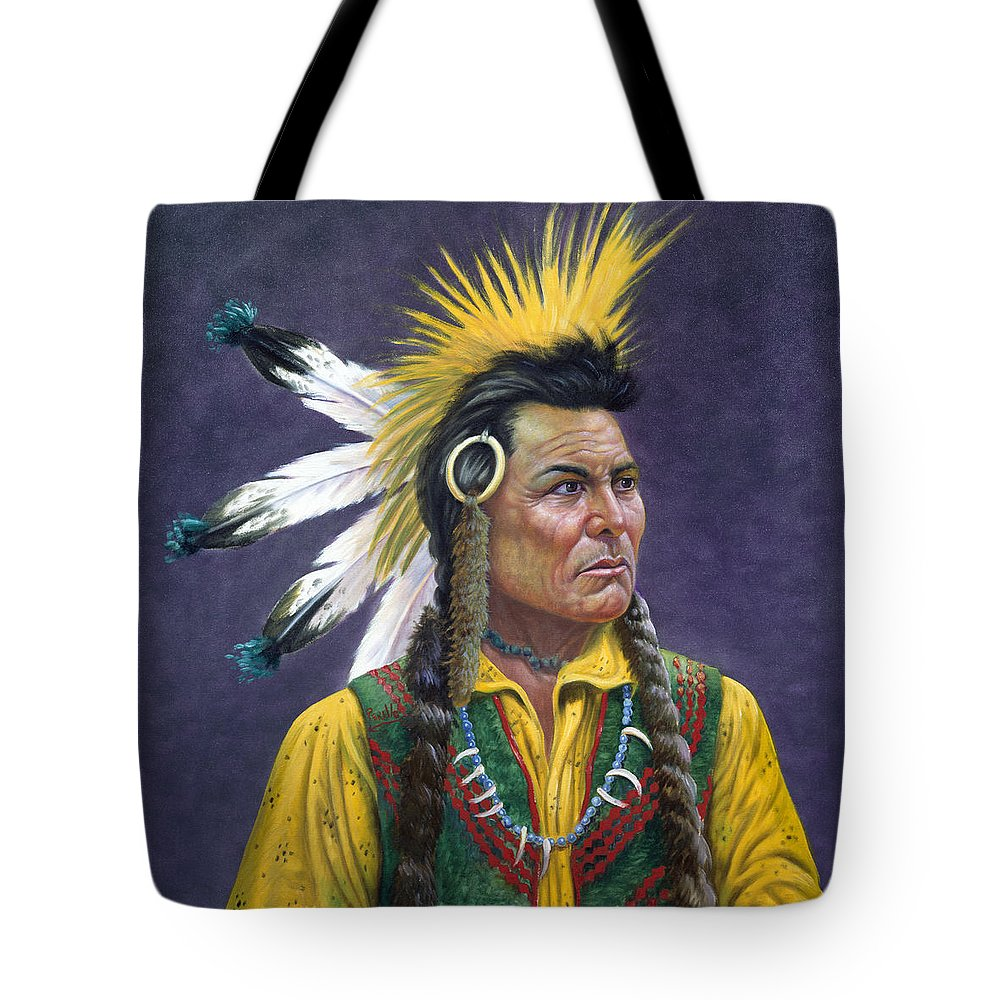 Tecumseh Tote Bag featuring the painting Tecumseh by Gregory Perillo
