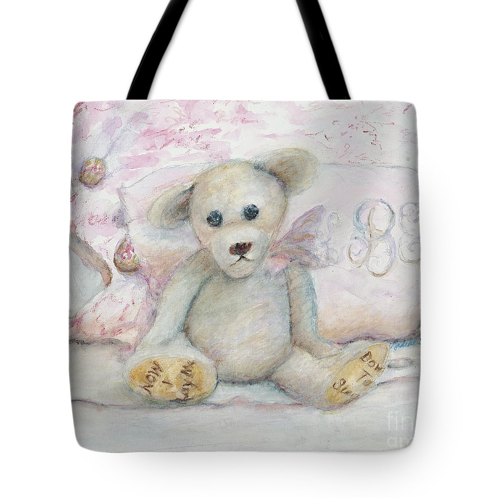 Teddy Bear Tote Bag featuring the painting Teddy Friend by Nadine Rippelmeyer
